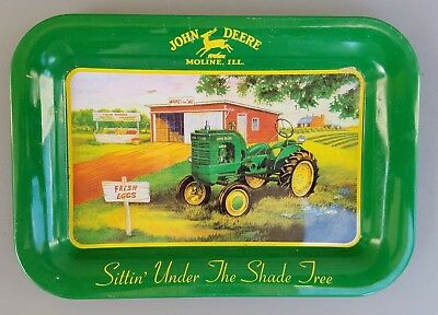 John Deere Tin Tray Look Read