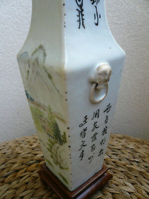Vase ancien porcelaine chine chinese porcelain antique calligraphie calligraphy
