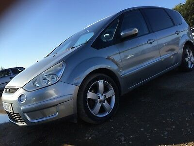 08 Ford S-Max Tdci Titanium Auto Leather, May19Mot, 2Ownrs, 77K *crease In Door*