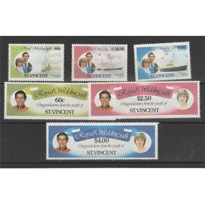 Grenadines Of St Vincent 1981 Royal Wedding Lady Diana 6 Val Mnh Mf58142