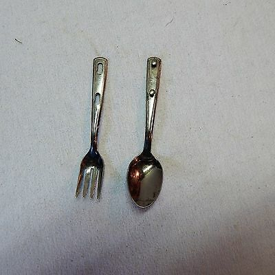 Vintage! Boy Scout Camping Fork & Spoon Silverware Set