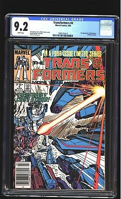 Transformers 4 CGC 9.2 NM- 1st Shockwave Dinobots Mark Texeira cover Marvel