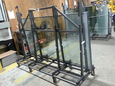 Double Sided STEEL A-FRAME METAL Truck CART Rack Transport Glass Windows Storage