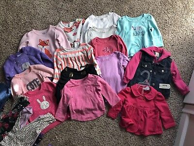 Huge Girls 12 Month Winter Clothing Lot 34 Pieces!