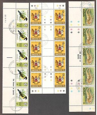 Br. Comm. – 5 Diff. In Gutter Strips/pairs (Mint/c.t.o.)