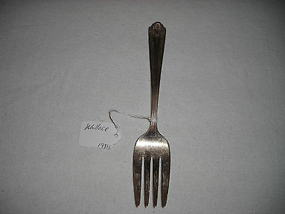 Vintage! Wallace Large Meat Fork Elmo Pure Silverplate
