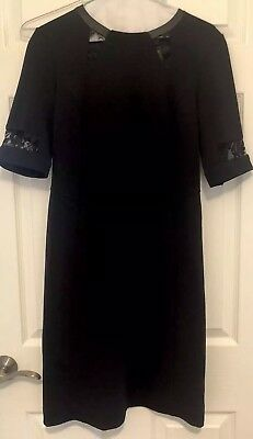 A Pea In The Pod Black With Lace Maternity Dress Size Small