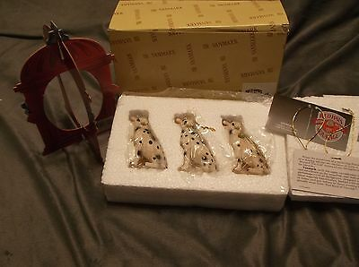 Vanmark Red Hats of Courage Beyond the Call Dalmatians Ornament Set #88390
