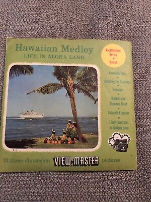 Hawaiian Medley Life in Aloha Land Hawaii 1951 View-Master Packet Reels 62 63 65