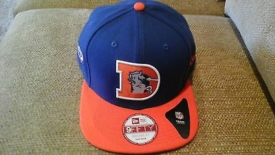142d53d85 DENVER BRONCOS NEW Era 9FIFTY Flatbrim Snapback Hat Vintage Logo ...