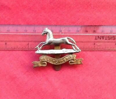 Original West Yorkshire Regiment Cap Badge, Two Metals, WW1 Era.