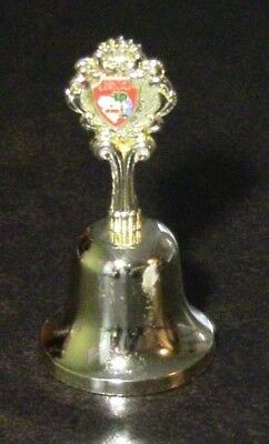 South Carolina Hand Bell Collectible 70s-80s Metal Solid Brass Gold Color