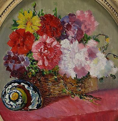 Signed Dated 1918? - Flower Still Life with Snail