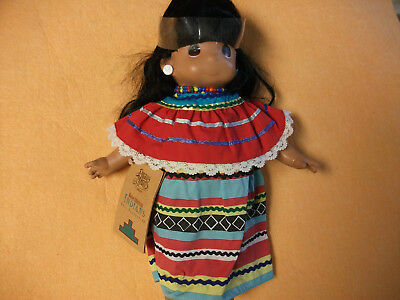 "Precious Moments Vinyl Doll 12"" Native American #1487 AMITOLA (Rainbow) LTD #"