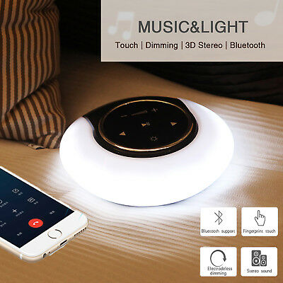 LED Touch Panel Bluetooth Speaker Portable Lamp Wireless 3D Stereo Music Player