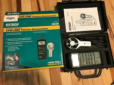 New Extech Instruments Heavy Duty CFM/CMM THERMO-ANEMOMETER Model 407113