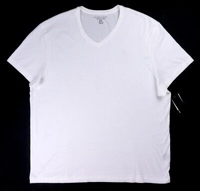 Nwt The Mens Store Bloomingdale's White Basic V-Neck T-Shirt Size 2Xl