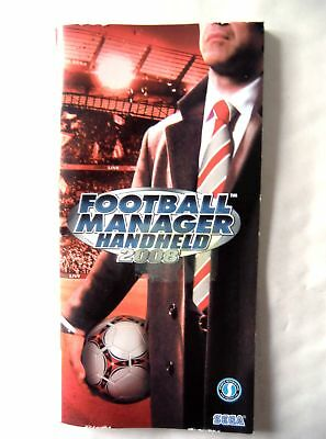 53949 Instruction Booklet - Football Manager Handheld 2008 - Sony PSP (2008) ULE