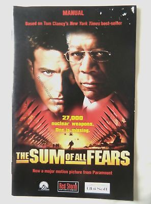 58038 Instruction Booklet - The Sum Of All Fears - Sony Playstation 2 (2002) SLE