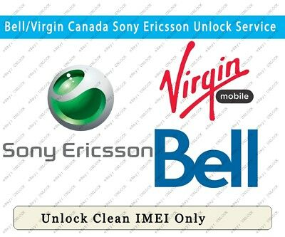 Unlock Bell/Virgin Canada Sony Ericsson All Models 0-48 Hours Factory Unlock