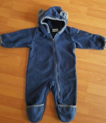 3701d3a93 Columbia Baby Boys 6-12 Months Navy Fleece Bunting Zip up Hooded Snowsuit