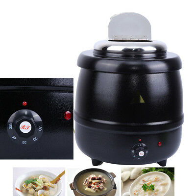 10L Round Electric Bolier Countertop Food/Soup Kettle Warmer Buffet Dinner Home