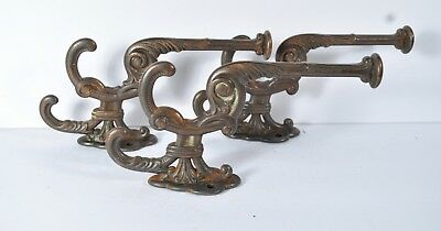 Antique Hallseat Tree Wall Coat Hat Hooks Cast Iron Fancy Copper Flash Lot V