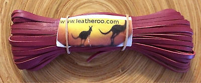 "Kangaroo Leather Lace ROSE/CERISE Kangaroo Leather Lacing 3mm 1/8"" 10m PERFECT"