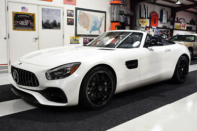 2018 Mercedes-Benz AMG GT AMG GT CONVERTIBLE DISTRONIC PLUS NIGHT STYLING 3476 MILES, CLEAN CARFAX, DIAMOND WHITE, DISTRONIC PLUS, BURMESTER, NIGHT PACK