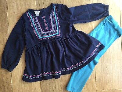 Monsoon Baby Girl Two Piece Tunic & Leggings Outfit 18-24 Months Designer