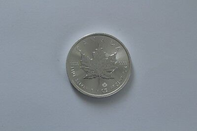 "2015 Silver 1 oz Canadian Fine $5 "" Five Dollars "" Maple Leaf 9999 Bullion/Coin"