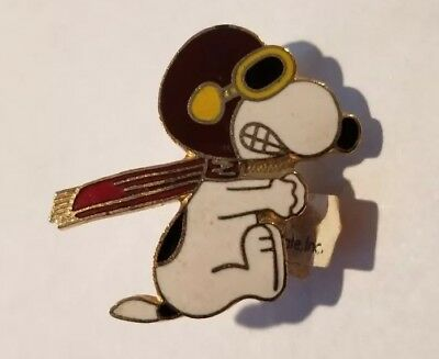 Vintage NOS Peanuts SNOOPY Flying Ace Red Baron Peanuts Pin