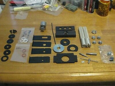 Perkin Elmer FTIR Parts Huge Lot Pellet Making? O rings Handles Circular Holders