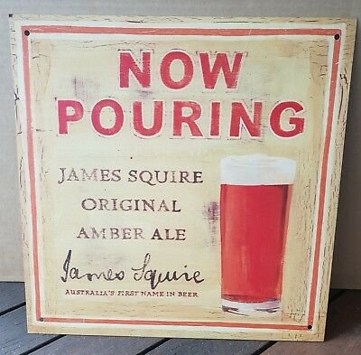 James Squire Original Amber Ale Beer Metal Sign - 40 x 40cm