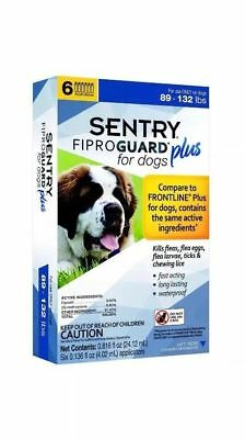 Sentry FIPROGUARD PLUS for Extra Large Dogs 89-132 lbs. 6 Doses Flea & Tick