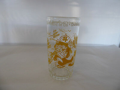 Vintage 1940s The Wizard Of Oz Cowardly Lion Yellow Paint Drinking Glass Tumbler