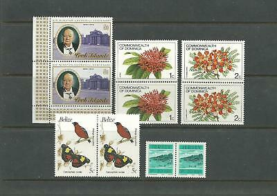Br. Commonwealth - 5 Pairs W/topical Stamps (Mint)