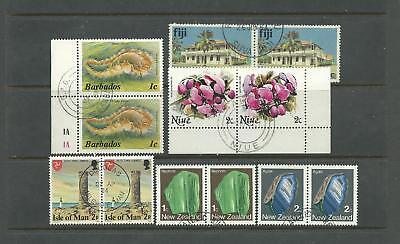 Br.commonwealth – 6 Pairs W/topical Stamps (Used)