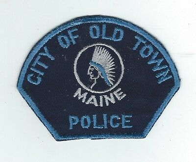 VINTAGE OLD TOWN, MAINE POLICE (CHEESE CLOTH BACK) patch