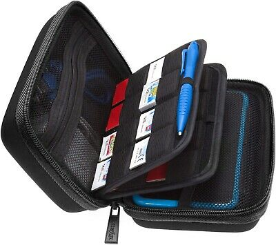 Nintendo 2DS XL/3DS  Storage Carry Case, Fits Wall Charger,24 Card holder&Stylus