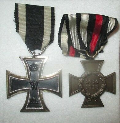 Medals Ww1/wwi German - Iron Cross 2Nd Class  And Cross Of Honor