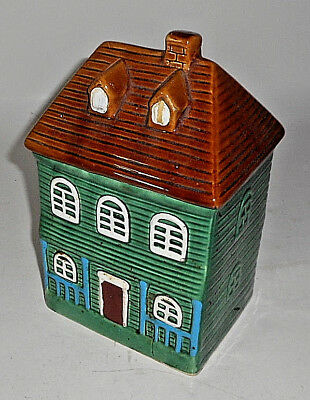 "Vintage GREEN  9"" T House Cookie Jar"