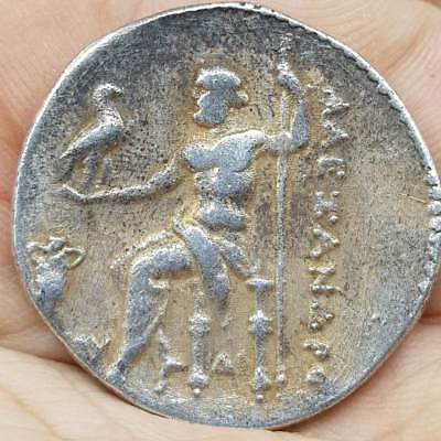 AUTHENTIC ANCIENT GREEK SILVER TETRADRACHM COIN ALexander The Great  # 5J