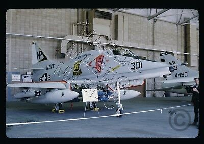 35mm Kodachrome Aircraft Slide - A-4F Skyhawk BuNo 155045 NP301 VA-212 - May '70