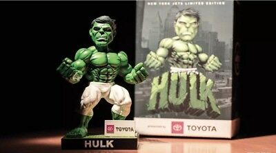 2018 NEW YORK JETS INCREDIBLE HULK Banner Bobblehead MARVEL SGA NFL Rare