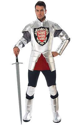 Brand New Silver Knight Renaissance Medieval Adult Costume