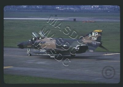"35mm Kodachrome Aircraft Slide - F-4D Phantom 65-0734 ""WP"" 80 TFS @ Yokota 1975"