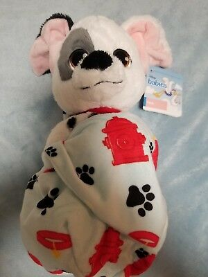 """Disney Parks Patch Baby Plush with Blanket Pouch 10"""" Babies New with Tags"""