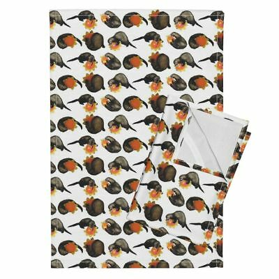 Ferret Ferrets Linen Cotton Tea Towels by Roostery Set of 2