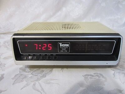 Vintage Thorn Digital Alarm Clock Radio Model 1300 Fully Working Condition
